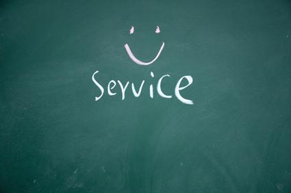 service on chalkboard